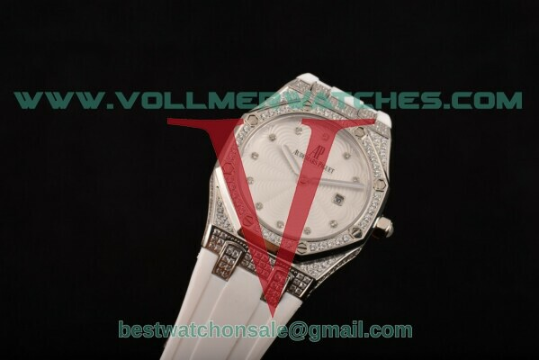 Audemars Piguet Royal Oak Lady Swiss Quartz White Dial With Steel Case 67605BC.ZZ.D070SU.01DW(EF)